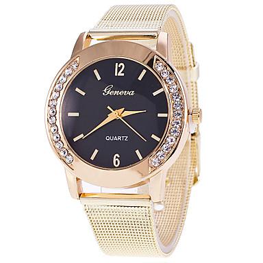 Pentru femei Ceas La Modă Ceas de Mână Quartz / Aliaj Bandă Cool Casual Negru Alb