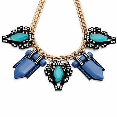 Kadın's Açıklama Kolye Geometric Shape Arkadaşlık sevimli Stil Açık Mavi Mücevher Için 1pc