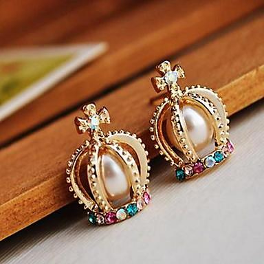 Damen Ohrstecker Tropfen-Ohrringe Strass Imitierte Perlen Personalisiert Religiöser Schmuck Luxus Einzigartiges Design Logo Stil
