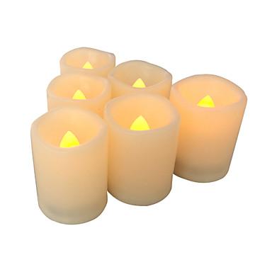 σύνολο 6 χωρίς φλόγα κεριών χωρίς φλόγα αφιερώματα κεριά οδήγησε αφιερώματα με χρονοδιακόπτη λειτουργεί με μπαταρία και οδήγησε κεριά με