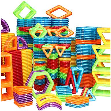 Magnetic Blocks Magnetic Tiles Building Blocks 128 pcs Car Robot Ferris Wheel compatible Legoing Gift Magnetic 3D Boys' Girls' Toy Gift / DIY