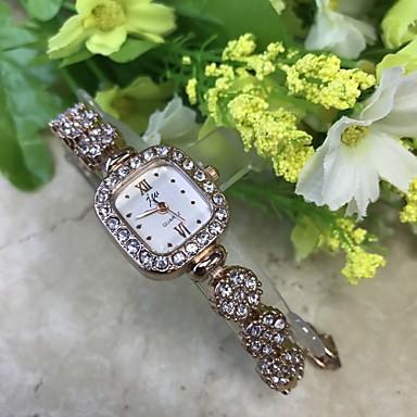 Damen Armband-Uhr Simulierter Diamant Uhr Modeuhr Armbanduhr Chinesisch Quartz / Imitation Diamant Legierung Band Blume Freizeit Rotgold