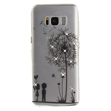 Maska Pentru Samsung Galaxy S8 Plus S8 Stras IMD Transparent Carcasă Spate Păpădie Moale TPU pentru S8 S8 Plus S7 edge S7