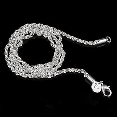 Жен. Стерлинговое серебро Серебристый Ожерелья-цепочки - Стерлинговое серебро Серебристый Классический Простой стиль Бижутерия Ожерелье