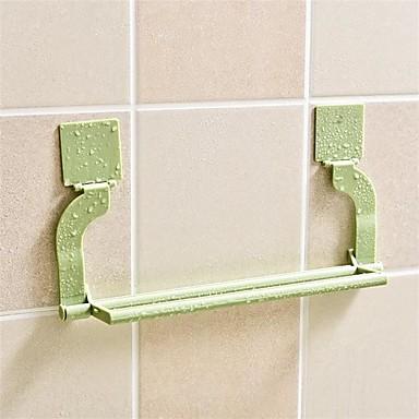 1szt bezszwowe wklejanie perforacja wolna ręcznik stojak wiszący ręcznik kuchnia toaleta ręcznik szafa na ruszt losowy kolor