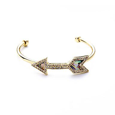 Damskie Bransoletki cuff Biżuteria Przyjaźń Modny Stop Geometric Shape Gold Biżuteria Na Impreza Urodziny 1szt