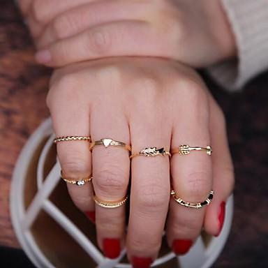 Midi Yüzükler Euramerican alaşım Altın Mücevher Için Günlük 1set
