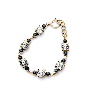Kadın's Zincir & Halka Bileklikler Mücevher Arkadaşlık Moda alaşım Round Shape Siyah Mücevher Için Düğün 1pc