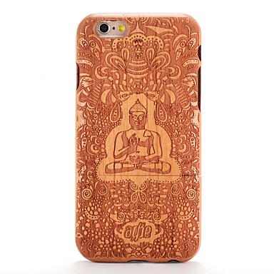 Kılıf Na iPhone 6s iPhone 6 Apple Wzór Wytłaczany wzór Czarne etui Tekstura drewna Rysunek Twarde Drewniany na iPhone 6s iPhone 6