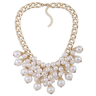 Damskie Pasemka Naszyjniki Imitacja pereł Osobiste euroamerykańskiej minimalistyczny styl Biżuteria Na Ślub Impreza 1szt
