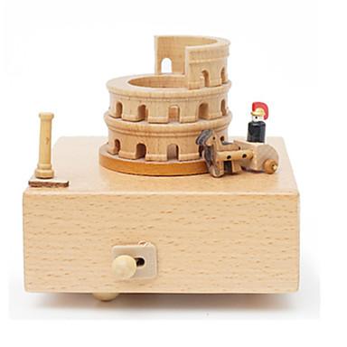 Spieluhr Quadratisch Geschenk Kinder Erwachsene Geschenk Holz Unisex
