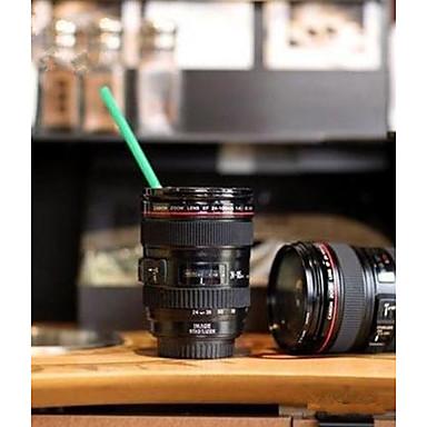 المنزل استخدام دائم دي عبس السفر القهوة القدح كأس القهوة القهوة الشاي عدسة الكاميرا كأس مع غطاء هدية