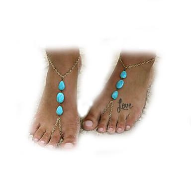 Χαμηλού Κόστους Κοσμήματα σώματος-Γυναικεία Σμαραγδί Βραχιόλι αστραγάλου κυρίες Ευρωπαϊκό Σμαραγδί Βραχιόλι αστραγάλου Κοσμήματα Μπρονζέ Για Καθημερινά Causal Παραλία
