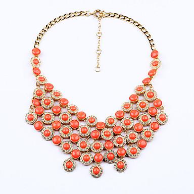 Γυναικεία Κολιέ Δήλωση Round Shape Πανκ Στυλ Χιπ-Χοπ Κοσμήματα Για Χριστουγεννιάτικα δώρα