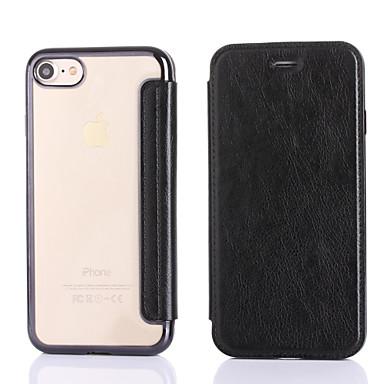 غطاء من أجل Apple iPhone 7 Plus iPhone 7 حامل البطاقات تصفيح غطاء كامل للجسم لون الصلبة قاسي جلد PU إلى iPhone 7 Plus iPhone 7 iPhone 6s