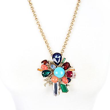 Kadın's Uçlu Kolyeler Flower Shape Eşsiz Tasarım Kişiselleştirilmiş Gökküşağı Mücevher Için 1pc