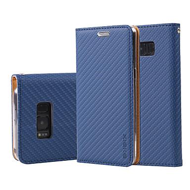 hoesje Voor Samsung Galaxy S8 Plus S8 Portemonnee Kaarthouder met standaard Flip Volledige behuizing Effen Kleur Hard PU-leer voor S8 S8