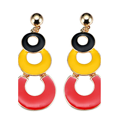 Dames Druppel oorbellen Cirkelvormig ontwerp Bohémien arylic Legering Anderen Sieraden Feest Dagelijks Causaal Toneel Kostuum juwelen
