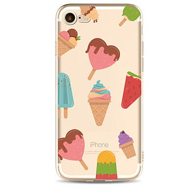 hoesje Voor Apple Transparant Patroon Achterkantje Voedsel Zacht TPU voor iPhone 7 Plus iPhone 7 iPhone 6s Plus iPhone 6 Plus iPhone 6s