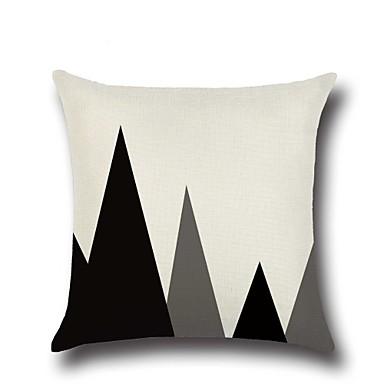1 Stück Baumwolle / Leinen Kissenbezug, Geometrische Muster / Neuheit / Modisch Geometrisch / Retro / Freizeit