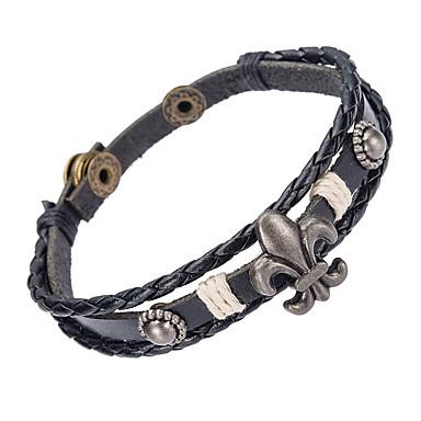 Heren Lederen armbanden Sieraden Natuur Modieus Leder Legering Sieraden Voor Speciale gelegenheden  Sport