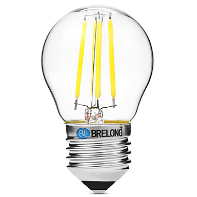 BRELONG® 1 buc 4W 300 lm E27 Bec Filet LED G45 4 led-uri COB Intensitate Luminoasă Reglabilă Alb Cald Alb AC 200-240V