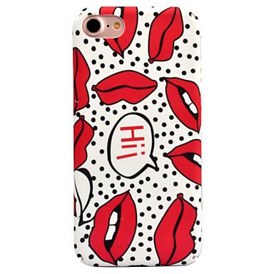 Voor apple iphone 7 7 plus 6s 6 plus case cover lippen patroon decal huidverzorging touch pc materiaal telefoon hoesje