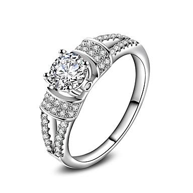 Damen Ring Schmuck Kreisförmiges Klassisch Kreis Freundschaft Euramerican Simple Style versilbert Kreisförmig Schmuck Hochzeit Büro /