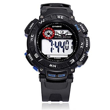 للرجال ساعات فاشن ساعة رقمية رقمي سيليكون فرقة أسود أزرق