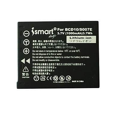 Ismartdigi nou s007 3.7v baterie 1000mah camera pentru panasonic s007 s007e tz1 tz4 tz5 tz11 tz15 bcd10
