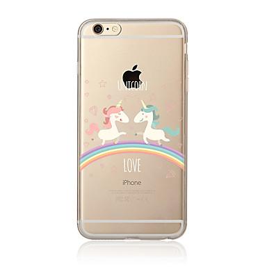 Case voor iphone 7 7 plus eenhoorn patroon tpu soft back cover cartoon voor iphone 6 plus 6s plus iphone 5 se 5s 5c 4s