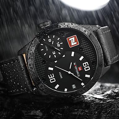 naviforce bărbați ceas sport cuarț / ceas militar / încheietura ceas japoneză calendar / data / zi / creative / duale fusuri orar / mare
