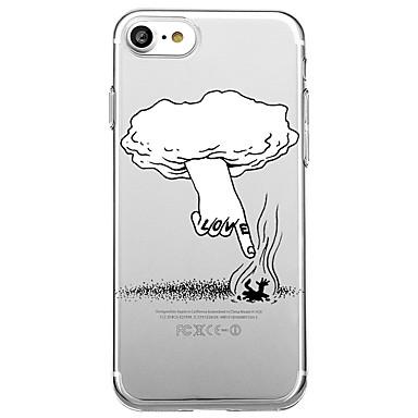 Hülle Für Apple Transparent Muster Rückseitenabdeckung Wort / Satz Cartoon Design Weich TPU für iPhone 7 plus iPhone 7 iPhone 6s Plus