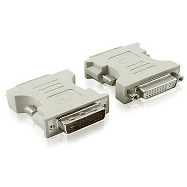 DVI Adapter, DVI to DVI Adapter Male - Female 720p Vernickelter Stahl