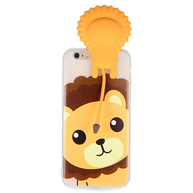 Caz pentru Apple iPhone 7 7plus 3d desen animat drăguț model leu moale tpu material spate caz acoperă pentru iphone 6s plus 6 plus 6s 6