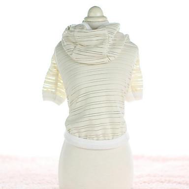 T-skjorte ملابس الكلاب كاجوال/يومي موضة الرياضات مخطط أبيض زهري كوستيوم للحيوانات الأليفة