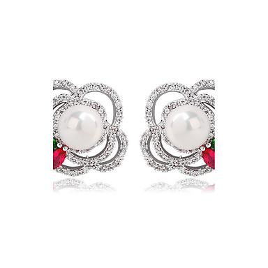 Pentru femei Cercei Stud Bijuterii Design Unic Modă Euramerican Zirconiu Aliaj Bijuterii Bijuterii Pentru Nuntă Zi de Naștere Petrecere /