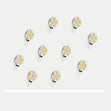 10 Stück 68lm LED Doppel-Pin Leuchten 6 LED-Perlen SMD 5050 Warmes Weiß / Weiß