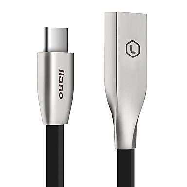 Type-C Plat Snelle kosten Kabel Voor Samsung Huawei Sony Nokia HTC Motorola LG Lenovo Xiaomi cm Aluminium