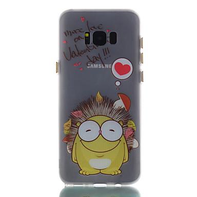 hoesje Voor Samsung Galaxy S8 Plus S8 Glow in the dark Mat Patroon Achterkantje Woord / tekst dier Cartoon Zacht TPU voor S8 S8 Plus S7