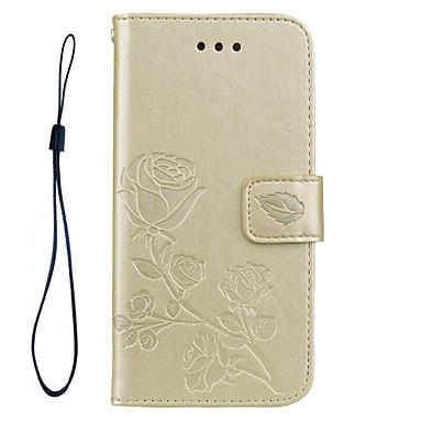 Maska Pentru Samsung Galaxy S8 Plus S8 Portofel Titluar Card Cu Stand Întoarce Embosat Model Corp Plin Culoare solidă Floare Greu PU Piele