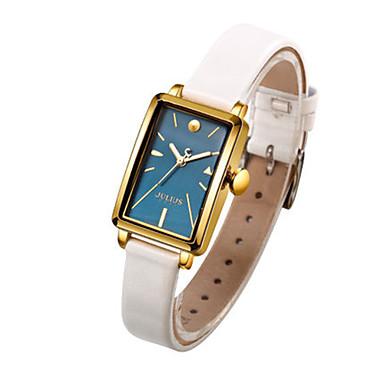 Dames Modieus horloge Kwarts Waterbestendig Leer Band Informeel Zwart Wit Orange Bruin roze