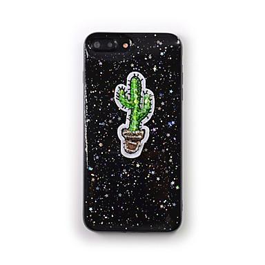 Hülle Für Apple Transparent Muster Rückseitenabdeckung Baum Glänzender Schein Weich Silikon für iPhone 7 plus iPhone 7 iPhone 6s Plus