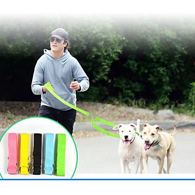 كلب الأمان سادة نايلون أصفر أخضر أزرق زهري أسود