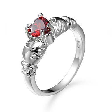 Dames Ring Kubieke Zirkonia Uniek ontwerp Euramerican Modieus Zirkonia Legering Sieraden Sieraden Voor Feest Verjaardag Feest/Avond