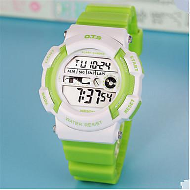 Heren Modieus horloge Chinees Digitaal Rubber Band Informeel Wit Blauw Groen