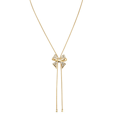 Women's Bowknot Tassel Elegant Choker Necklace Pendant Necklace Crystal Alloy Choker Necklace Pendant Necklace , Wedding Party Daily