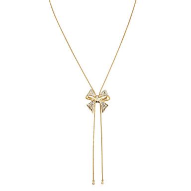 Pentru femei Cristal Coliere Choker / Coliere cu Pandativ - Cristal Nod Funda femei, Ciucure, Elegant Auriu Coliere Bijuterii Pentru Nuntă, Petrecere, Zilnic