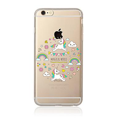 Fall für iphone 7 7 plus Einhornmuster tpu weiche rückseitige Abdeckungskarikatur für iphone 6 plus 6s plus iphone 5 se 5s 5c 4s