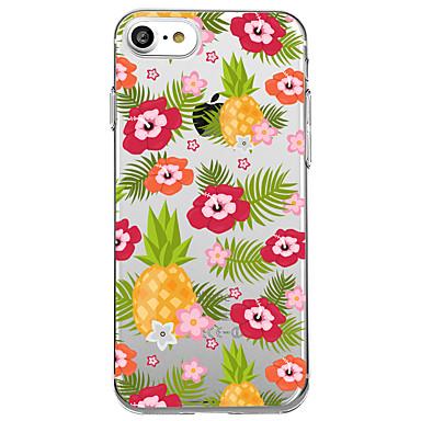 hoesje Voor Apple Transparant Patroon Achterkantje Fruit Bloem Zacht TPU voor iPhone 7 Plus iPhone 7 iPhone 6s Plus iPhone 6 Plus iPhone